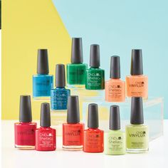 Because a shock of bright color could help us all get through winter, say hi to our new tropics-inspired #CNDRhythmAndHeat collection, featuring 6 vibrant #CNDSHELLAC and #CNDVINYLUX shades!