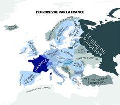 """Carte des préjuges -  Comment les Français voient l'Europe? La réponse de """"L'Atlas des préjugés"""", livre de cartes insolites"""