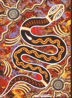 III - Andrea Mathieson, Snake Medicine: Remembering the Eros of my Animal Body Aboriginal Art Animals, Aboriginal Dot Painting, Indigenous Australian Art, Indigenous Art, Aboriginal Tattoo, Aboriginal Symbols, Kunst Der Aborigines, Rainbow Serpent, Snake Art