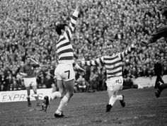 George Connelly scores for Celtic in the 1969 Scottish Cup Final.