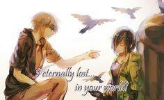 Eu eternamente perdido...em seu mundo <3 ;--; - Kaneki e Touka | Tokyo Ghoul