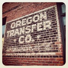 Ghost sign #3: Oregon Transfer Co.