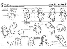 winnie the pooh production model sheets - Google Search