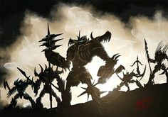 Dinobots art concept for Transformers 4: Age of Extinction