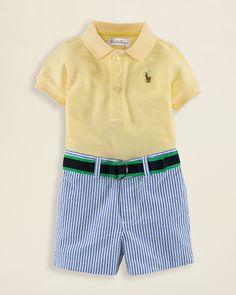 Ralph Lauren Childrenswear Infant Boys' Polo & Seersucker Shorts Set - Sizes 3-9 Months   Bloomingdale's