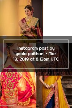Instagram post by yeola paithani • Mar 13, 2019 at 8:13am UTC Wedding Sarees, Instagram Posts, Bridal Sari