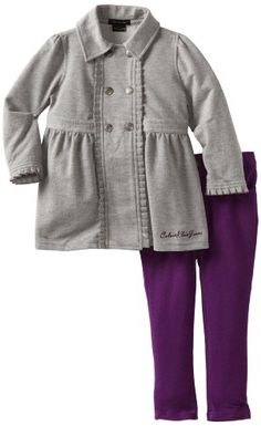 Calvin Klein Girls 2-6X Jacket With Purple Pant $38.15