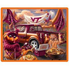 Virginia Tech Hokies Tailgate Print 48'' x 60'' Fleece Blanket