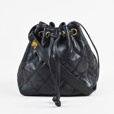 Vintage Chanel Black White Canvas Printed Letter Quilted Double Handle Bag In 2018 Pinterest And