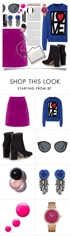 """""""street style"""" by danket ❤ liked on Polyvore featuring L.K.Bennett, Love Moschino, Gianvito Rossi, STELLA McCARTNEY, Prada, Forest of Chintz, Topshop and Caravelle by Bulova"""