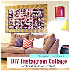 DIY Instagram Wall Collage {Home Decor}