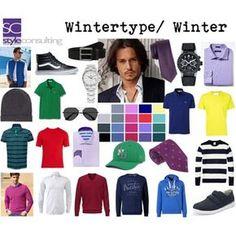Kleuren/ kleurenpalet wintertype (man).