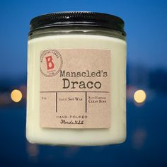 Manacled's Draco | 100% Soy Scented Candle | Fanfiction Gift