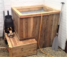 Cozy Fire Heated IBC Tote Hot Tub