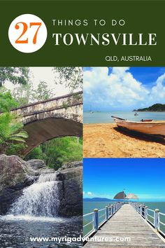 From tropical islands and beaches, to snorkelling the Great Barrier Reef and wandering the rainforest with crystal clear creeks - Townsville has it all! Here are 27 awesome things to do in Townsville, QLD Australia. #townsville #queensland #australia #roadtrip #travel Moving To Australia, Visit Australia, Australia Travel, Queensland Australia, Cool Places To Visit, Great Places, Places To Go, Stuff To Do, Things To Do