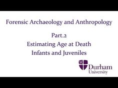 Forensic Archaeology and Anthropology - Part.2: Estimating Age at Death - Infants and Juveniles - YouTube