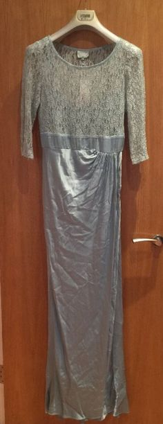 *GHOST LONDON* TAYA LACE AND SATIN DRESS UK Size L TIFFANY BLUE RRP £2.25 @£85.00