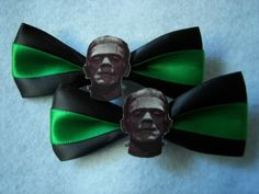 Frankenstein Hair Clips. SOLD, via Etsy.