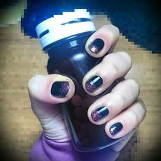 Nail art black&rose