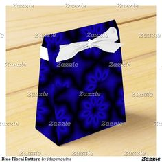 Blue Floral Pattern Favor Box