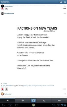 Factions on New Years