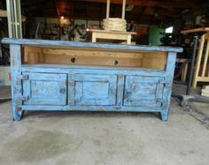 distressed tv stand made from pallet wood - Google Search