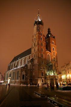 St. Mary's, Main Square, Krakow, Poland.