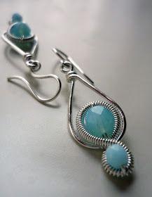 Wire wrapped earrings (must translate from Hungarian) Metal Jewelry, Jewelry Art, Beaded Jewelry, Handmade Jewelry, Jewelry Design, Jewlery, Silver Jewelry, Wire Wrapped Earrings, Wire Earrings