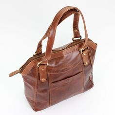 Large Brown Leather Handbag Tote by TheLeatherStore on Etsy