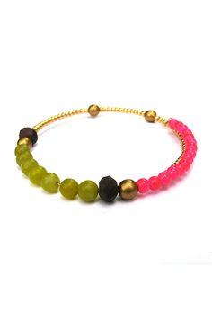 Sarah Arm Candy Beaded Bracelet Memory Wire Bracelet Beaded Bracelet Bangle Arm Candy