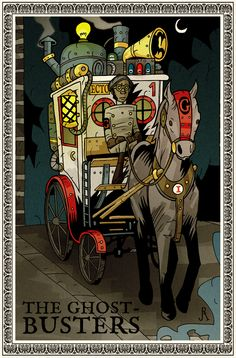 Loving these Steampunk Ghost-Busters Illustrations by Australian illustrator DrFaustusAU. Steampunk Illustration, Illustration Art, Paranormal, Die Geisterjäger, The Real Ghostbusters, Ghostbusters 1984, Famous Books, Famous Ads, Ghost Busters