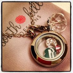 For the #girlscout in your life! Or create a #locket for your little girl reflecting whatever she loves! #southhilldesigns #girlscouts #charms #lockets  Find this locket and more here: http://southhilldesigns.com/catkerwin/default