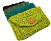 Cute clutches/cell phone covers I think I could knit (although I think these are crochet).