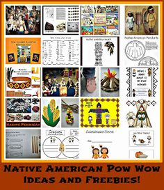 Native American Pow Wow and Lots of Freebies byCarolyn from Kindergarten, Holding Hands and Sticking Together at PreK + K Sharing Native American Lessons, Native American Projects, Native American History, Native American Indians, Native Americans, Thanksgiving Preschool, November Thanksgiving, Thanksgiving Projects, American Heritage Girls