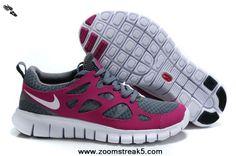 Buy Nike Free Run 2 Womens Tumbled Grey Vivid Grape White 443816-069 For Sale