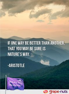 Aristotle was super smart, so we're listening to his #nature #quote.