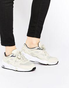 Puma+R698+Trinomic+PWRW+Reflective+Oatmeal+Trainers #sneakers #puma #trinomic