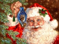 Embroidery,Vovotrade Christmas Embroidery Paintings Rhinestone Pasted diy Diamond painting Cross Stitch (A) - layout coupon Merry Christmas, Christmas Scenes, Vintage Christmas Cards, Santa Christmas, Christmas Pictures, Christmas Ornaments, Father Christmas, Christmas Gifts, Illustration Noel