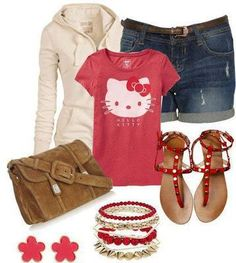 Hello Kitty Outfit! Cute!
