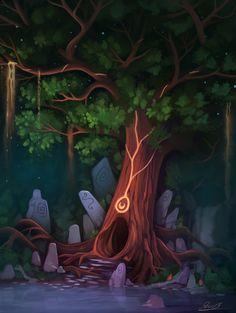 Landscape 17 by Yakovlev-vad on DeviantArt Frog Art, Environmental Art, Fairy Tales, Nature, Deviantart, Fantasy, Landscape, Illustration, Artist