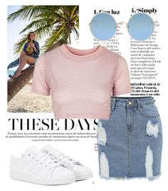 """Untitled #235"" by erikajosefina ❤ liked on Polyvore featuring Topshop, Sunday Somewhere and adidas"