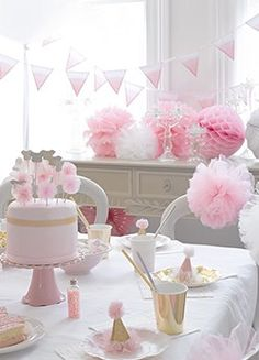 We Heart Pink - Party Tableware, Decorations, Birthday, Christening, Baby Shower 1st Birthday Girl Decorations, Christening Decorations, Ballerina Birthday Parties, Ballerina Party, 1st Birthday Girls, Baby Party, Baby Shower Parties, Shower Party, Pretty Pink Princess