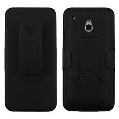 MYBAT Hybrid Holster Combo Case for HTC One Mini - Black