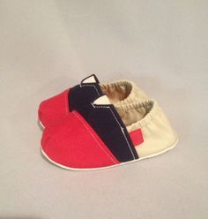 Fitted Baby shoes in a Patriotic Color Block by by Scarlettos, $28.00