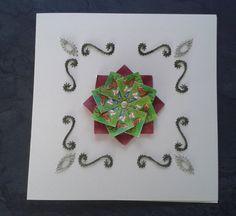 Combi van borduren op papier en bloem van theezakjes