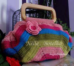 Mala/bolsa em crochet