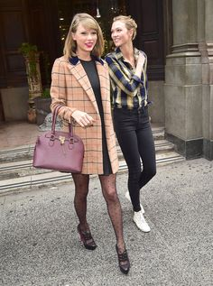Pin for Later: Taylor Swift's Friends Are Her Best Accessory Karlie Kloss This tall twosome are bicoastal BFFs who enjoyed a road trip up the California coast this year.