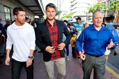 (L-R) Kevin Michael Martin, Travis Van Winkle and Lt. Chad Dulac (USN) attend TNT's 'The Last Ship' USO screening at Reading Cinemas Gaslamp 15 on June 15, 2015 in San Diego, California. 25590_001