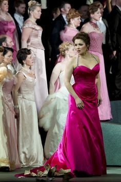 "Anna Netrebko as Manon Lescaut in ""Manon"" Opera Dress, Metropolitan Opera, Opera Singers, Bridesmaid Dresses, Wedding Dresses, Concert Posters, Classical Music, Art Music, Lady In Red"