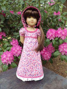 "OOAK Pretty Pink Flowers for Slim 18"" Kidz N Cats Doll by Sewgoesit on Etsy https://www.etsy.com/listing/234175316/ooak-pretty-pink-flowers-for-slim-18"